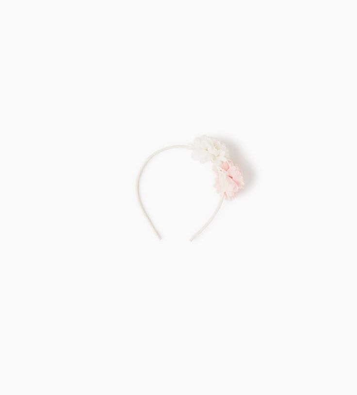 Image 1 of HAIRBAND WITH TWO FLOWERS from Zara