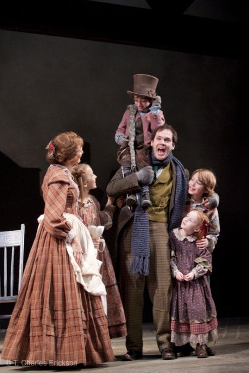 Hope Springer as Belinda Cratchit in A Christmas Carol McCarter Theatre Center directed by Michael Unger with Jonathan Crombie, Janet Metz, Jake Urban, Elsa Rodriguez, and Noah Hinsdale