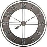 "Studio Designs Home - 30"" Industrial Loft Wall Clock - Steel (Silver)"