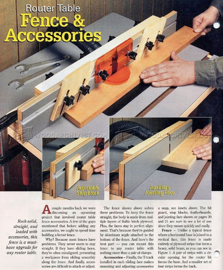 how to build a router table fence