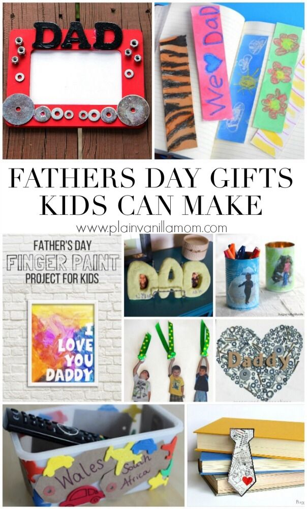 Dad's like kid made gifts too! Here are over 20 Father's Day Gifts Kids Can Make.