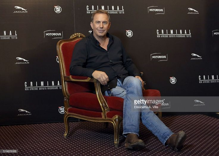 Actor Kevin Costner attends a photocall for 'Criminal' on April 8, 2016 in Rome, Italy.