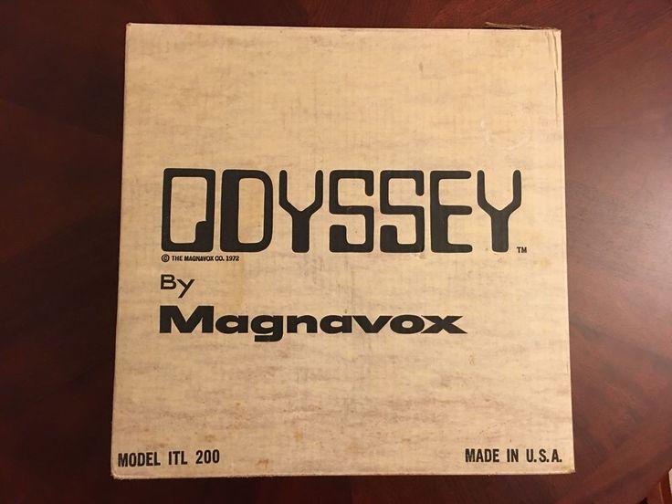 MAGNAVOX ODYSSEY SYSTEM 1972 RUN 1 SER #7273430 With Ship Box  | eBay