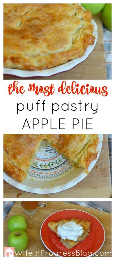 The best and most delicious apple pie you will ever make. The puff pastry might…