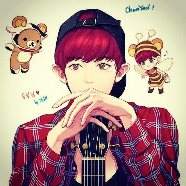 Chanyeol fanart (see logo on pict for credit)