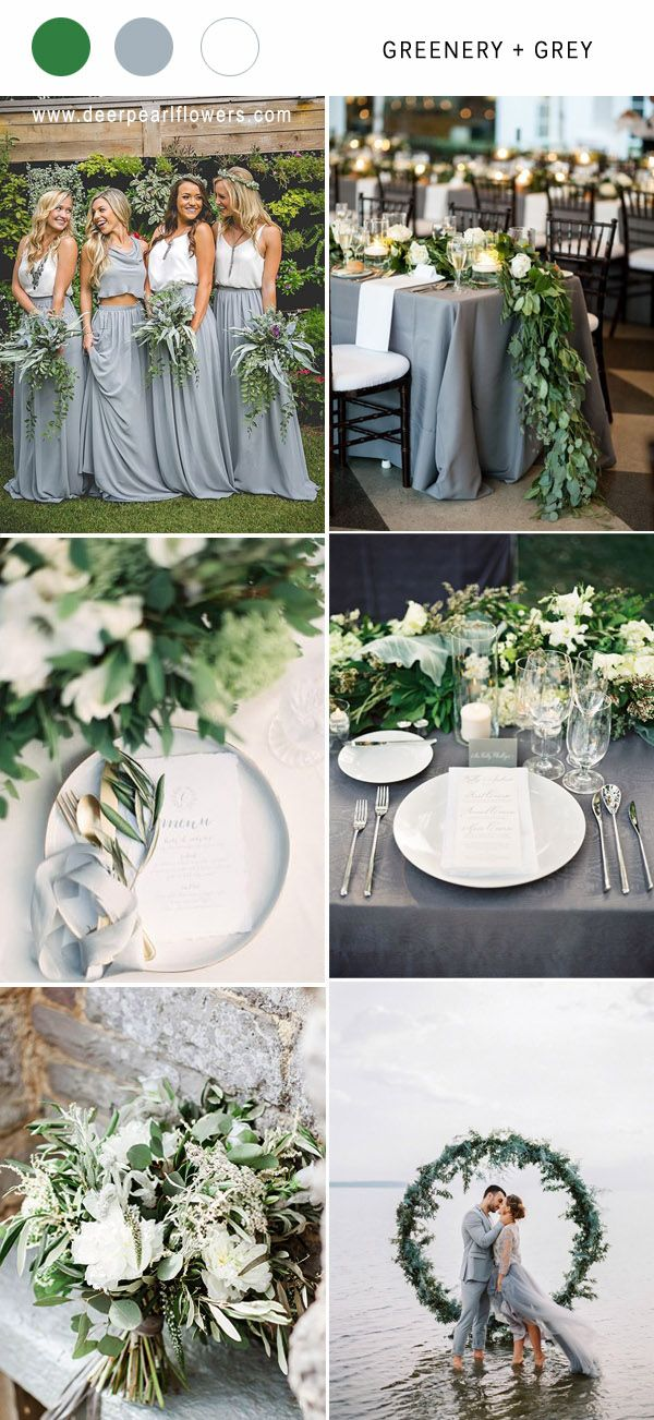 Greenry and gold wedding color ideas