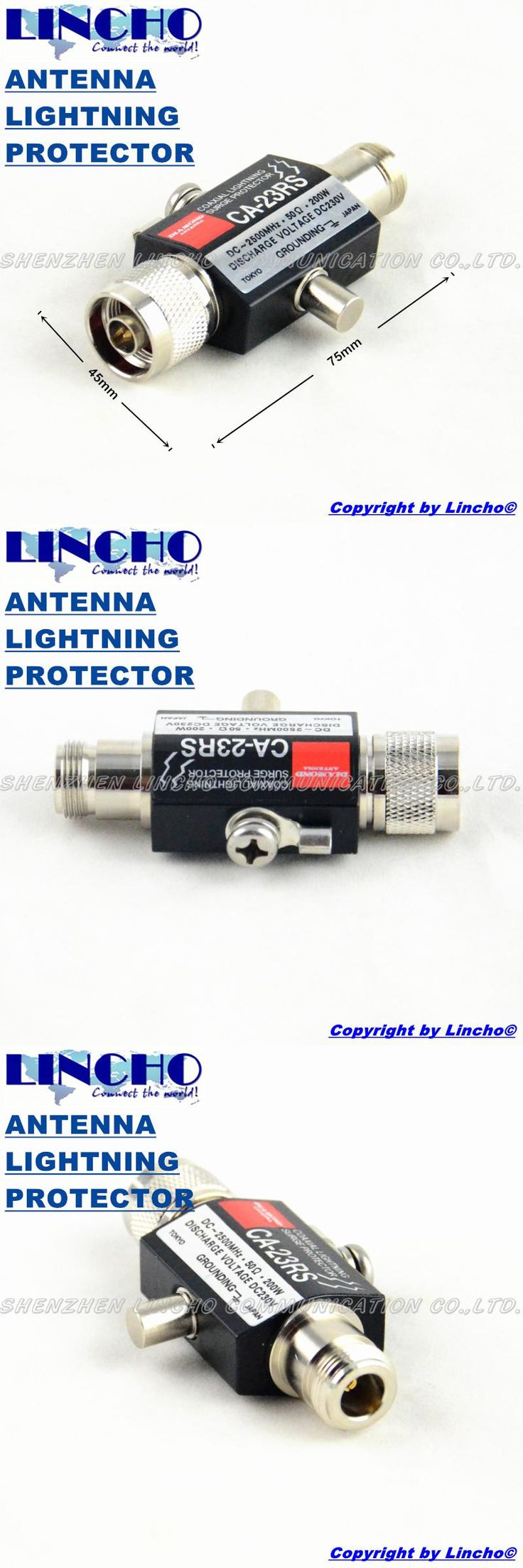 CA-23RS DC-2500MHz diamond coaxial lightning surge protector for outdoor antenna  N female connector