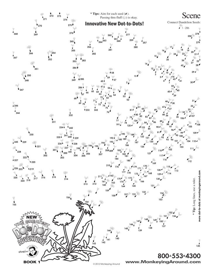 Greatest Dot-to-Dot Adventure Book 1 sample puzzle