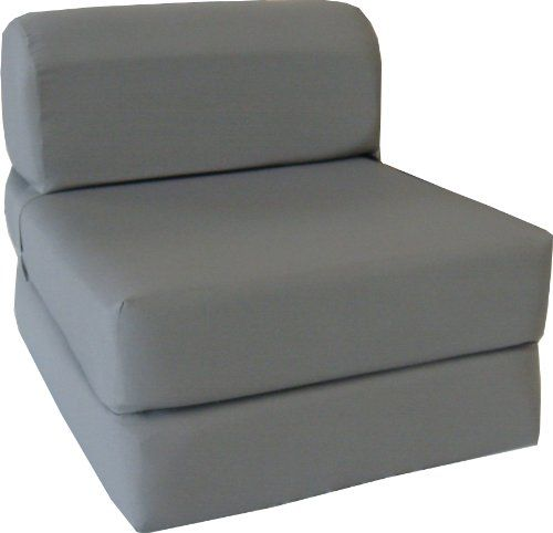 "Gray Sleeper Chair Folding Foam Bed Sized 6"" Thick X 32"" Wide X 70"" Long, Studio Guest Foldable Chair Beds, Foam Sofa, Couch. D&D Futon Furniture,http://smile.amazon.com/dp/B00G2RYF4C/ref=cm_sw_r_pi_dp_Kdjutb11D7P3G8HE"