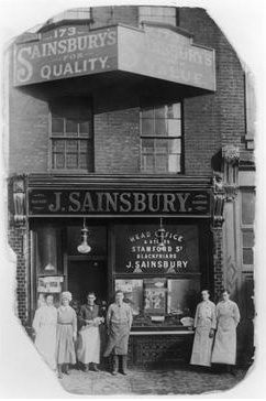 1869: John James and Mary Ann Sainsbury open their first store in Drury Lane, London