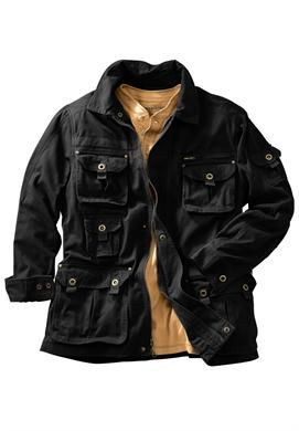 Big and Tall Cargo Pocket Twill Jacket by Boulder Creek® | Casual Jackets for Men | KingSizeDirect
