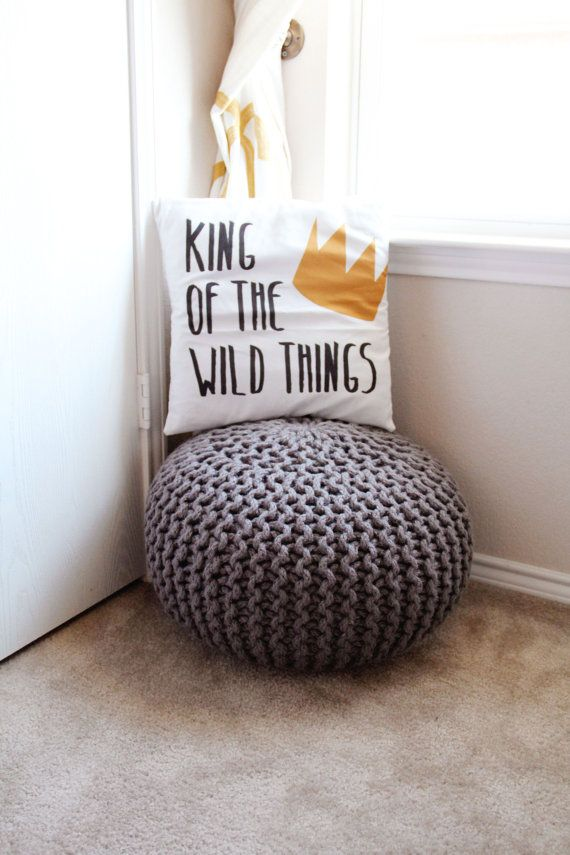 King of the Wild Things Pillow Cover Nursery Decor by LoonaLou