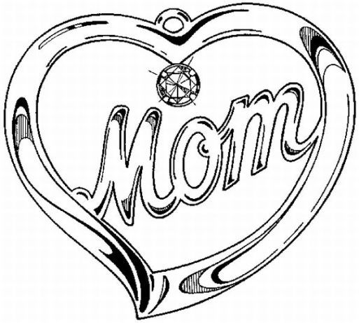 here are mothers day coloring pages