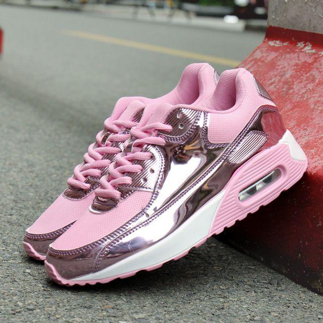 Aumento de la altura 2017 de Verano Zapatos de Las Mujeres Zapatos Casuales Zapatos de Deporte de Moda Zapatos Para Caminar deporte Mujeres Columpio Plataformas Shoes Transpirable envíos gratuitos en todo el mundo
