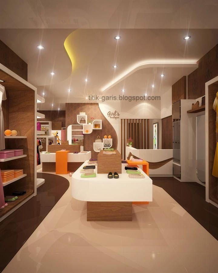 Interior Butik   Desain butik dengan konsep modern minimalis, dengan luas bangunan 30 m2.