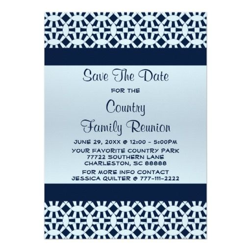 Wedding Ring Country Family Reunion Save The Date Card