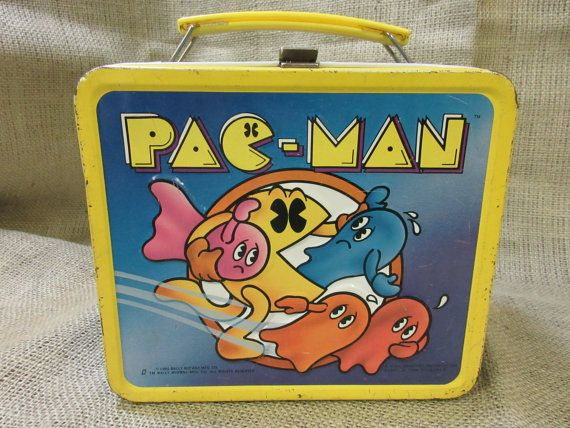 Aladdin Pac Man Lunch box WITH Thermos