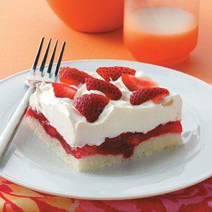 Strawberry Ladyfinger Dessert Recipe from Taste of Home