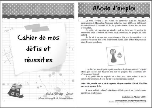 cahier progrès version 2015