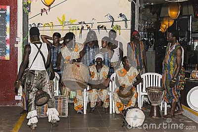 Music and dancing show in Kombo Beach  Hotel in Gambia.