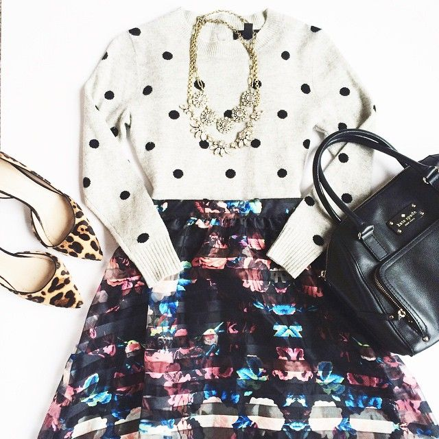 Polka dots, florals, stripes & leopard… gang's all here!!! Shop this look by registering your instagram account @liketoknow.it and visiting this link: www.liketk.it/RCFC