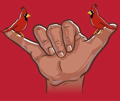 Hahaha mujica's hand shake. Pull the sword. Stay level (I think) and stl cardinals