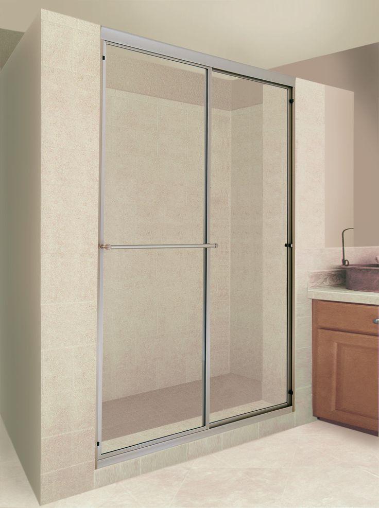 17 best ideas about sliding shower doors on pinterest for Discount frameless shower doors
