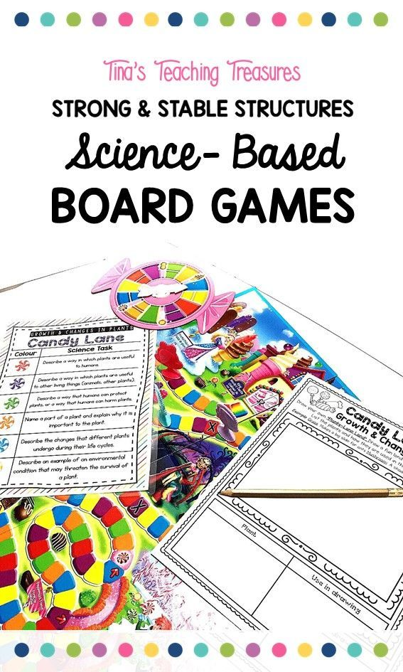 Looking for a hands-on way to teach third grade Science concepts? 4 fun games for your class to review their learning and have fun.  These are perfect for sub plans, combined grades, and center work.  Use your Jenga, Scrabble, Connect Four, and Candyland games in a new way.  This bundle has games to help teach strong and stable structures.