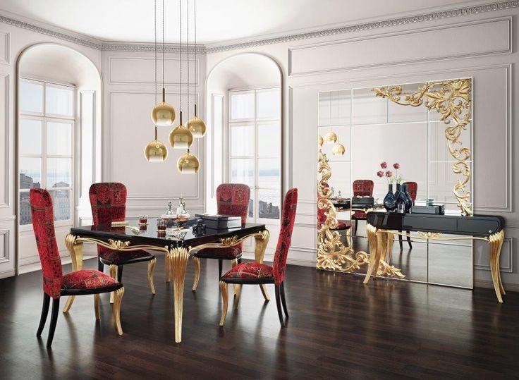 La salle à manger de luxe or noir 1900 http commodeetconsole com