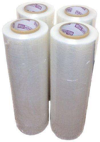 "Heavy Duty 80 Gauge Stretch Film Plastic Shrink Wrap Pallet Wrap Full 18"" X 1500' Thick 20 Micron - 4 Units"
