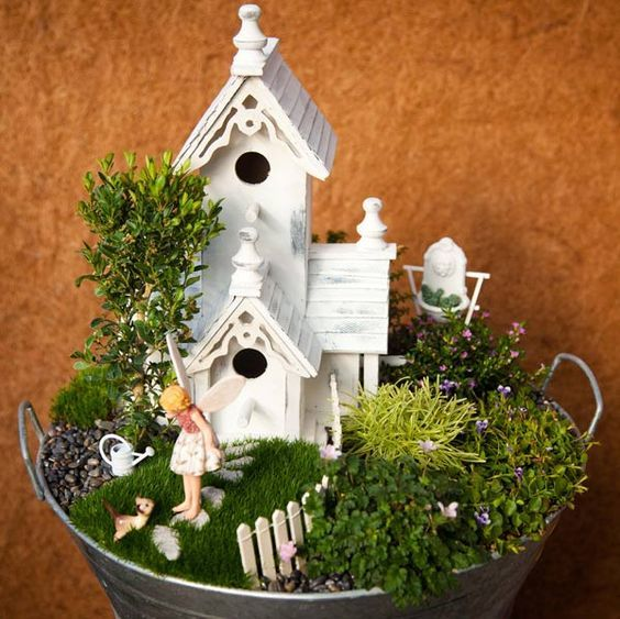 Fairy Gardening: Creating Your Own Magical Miniature Garden by Julie Bawden-Davis and Beverly Turner provides step-by-step instructions for creating a magical garden. Learn how to design, plant, accessorize, and care for your very own small corner of the world. - DIY Fairy Gardens