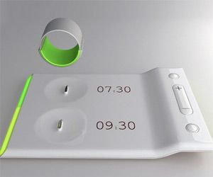 Vibrating Ring Alarm Clock | DudeIWantThat.com - This would be perfect for me and the other three alarm clocks in my room that get me out of bed long enough to realize that it's warmer to get back into the bed than whatever outfit I picked that day : ).