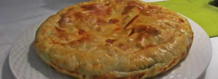 Torta di scarola e formaggio Brillat-Savarin