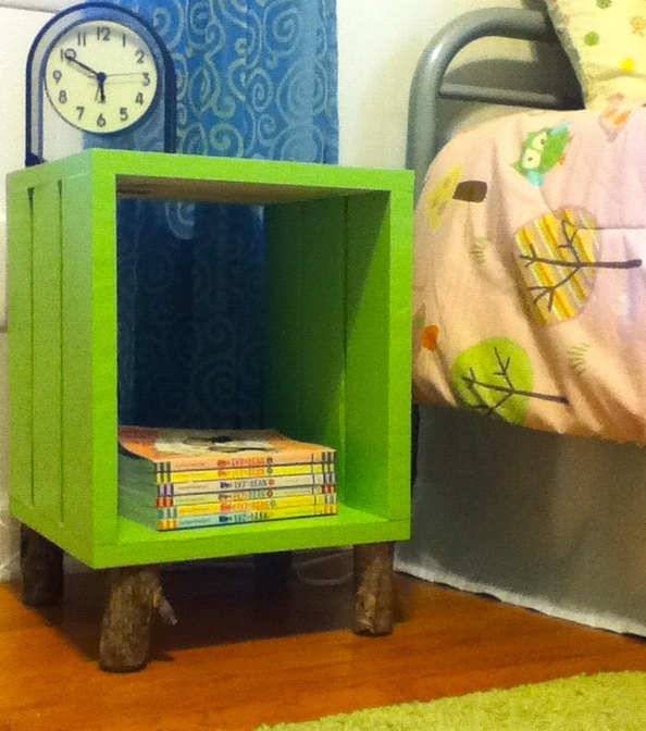 41 best images about wooden crate on pinterest wooden for Wooden crate bedside table