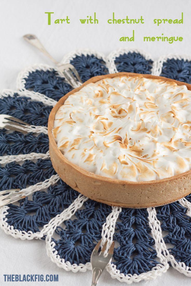 La farina di neccio nella crostata con crema di marron glacé e meringa http://www.theblackfig.com/2014/01/crostata-di-frolla-alla-farina-di-neccio-con-crema-di-marron-glace-e-meringa.html #tart #toscana #chestnut