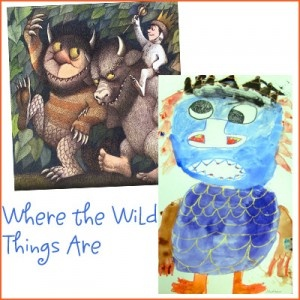 where-wild-things-are and many, many more books with art projects that go with them.