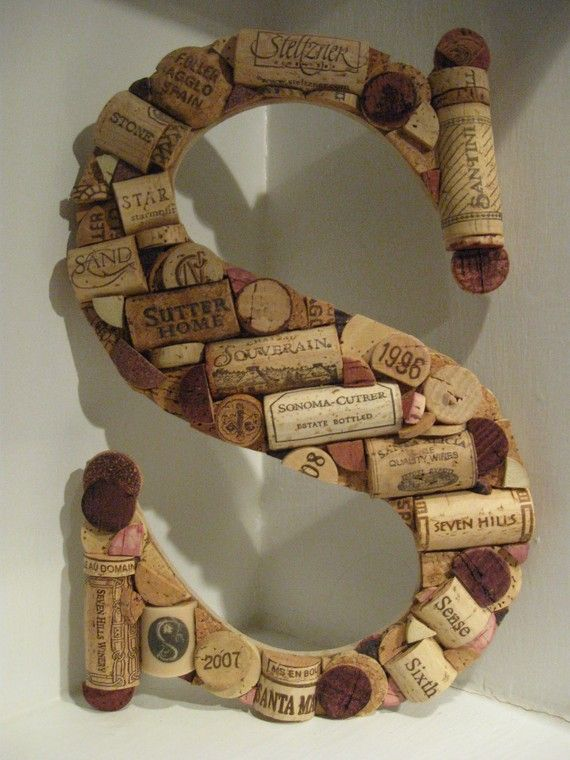 Custom Wine Cork Letter  S by MyMamaMaria on Etsy