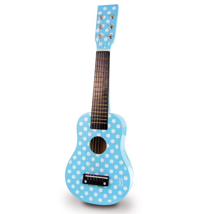 Chitara de lemn lacuit, un produs Vilacfoarte frumos! Sunete realiste datorita celor 6 corzi adevarate, din metal si nu din plastic. Varsta- intre 3 si 5 ani Materiale- Lemn Dimensiune- Lungime: 51 cm