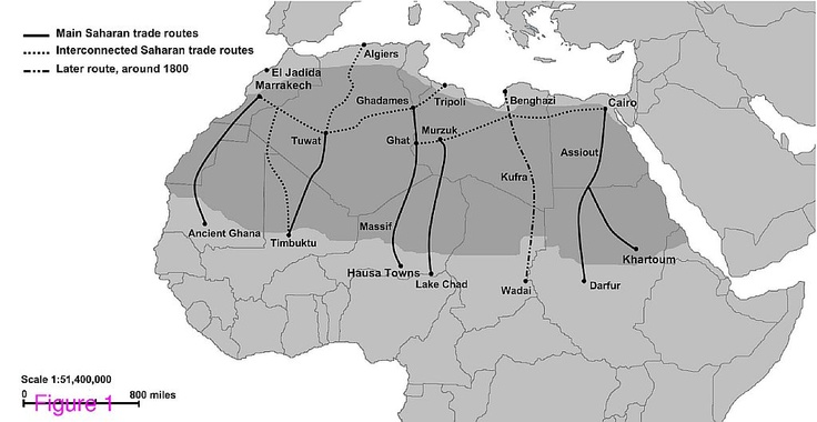 The Saharan slave trade to the Islamic world carried mostly women for sexual and domestic employment. The Atlantic trade concentrated on young men fit for hard labor in the Americas.