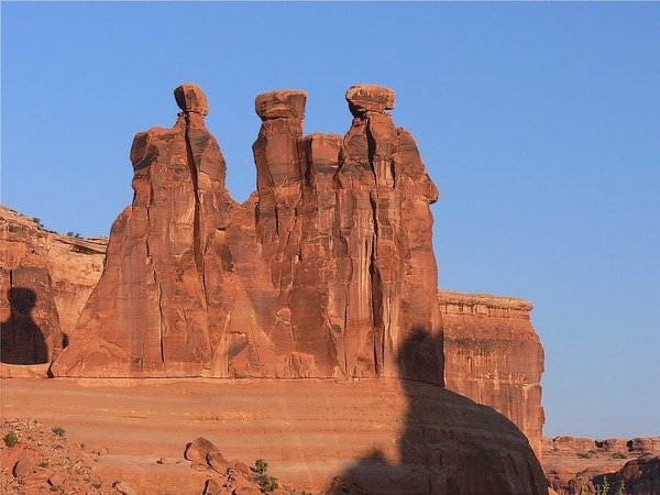 Arches National Park - Utah, USA.  This formation reminds me of the Three Wise Men