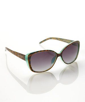 Look what I found on #zulily! Animal Blue Classic Cat-Eye Sunglasses by Jessica Simpson Collection #zulilyfinds