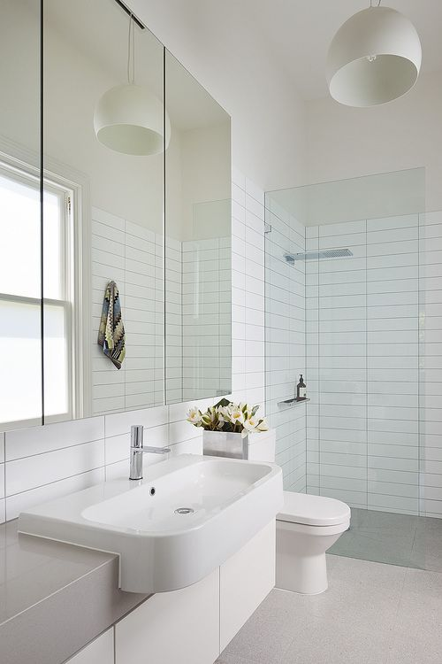 tiled shower + missoni towel | Canopy House - Bower Architecture