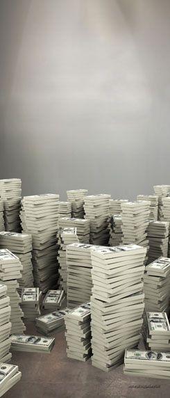 Geldstapel Deurposter - Alle
