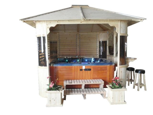 Source 2016 Hot Sale China Factory Outdoor Tub Gazebo Wooden Garden