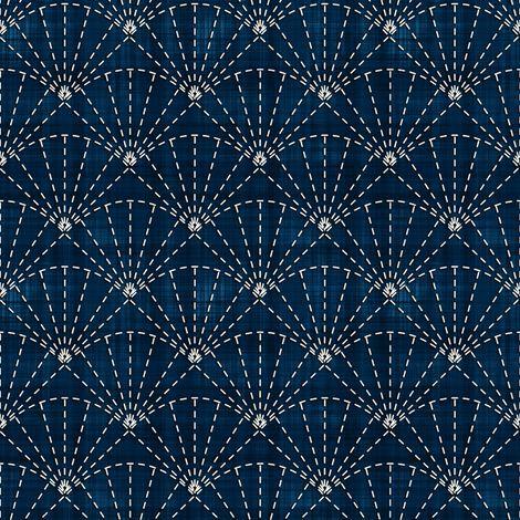 Sashiko: Uchiwa - Fans fabric by bonnie_phantasm on Spoonflower - custom fabric