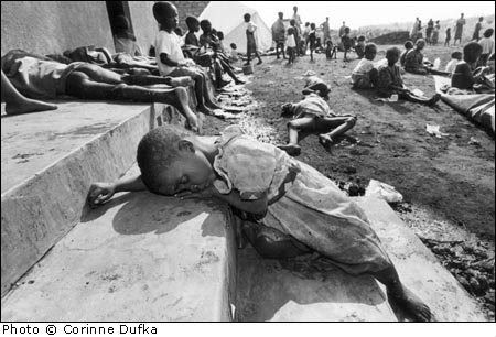The Rwandan Genocide in 1994. Over the course of approximately 100 days over 500,000 people were killed according to a Human Rights Watch estimate.Estimates of the death toll have ranged from 500,000–1,000,000.It was the culmination of longstanding ethnic competition & tensions between the minority Tutsi,who had controlled power for centuries & the majority Hutu peoples who had come to power in the rebellion of 1959–62. http://en.wikipedia.org/wiki/Rwandan_Genocide
