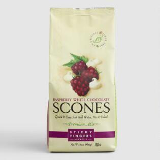 Sticky Fingers Bakeries Raspberry White Choco Scone
