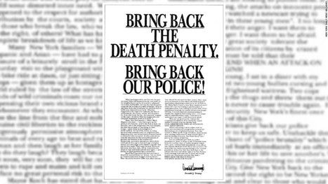"""Trump in 1989 Central Park Five interview: """"Maybe hate is what we need"""" 