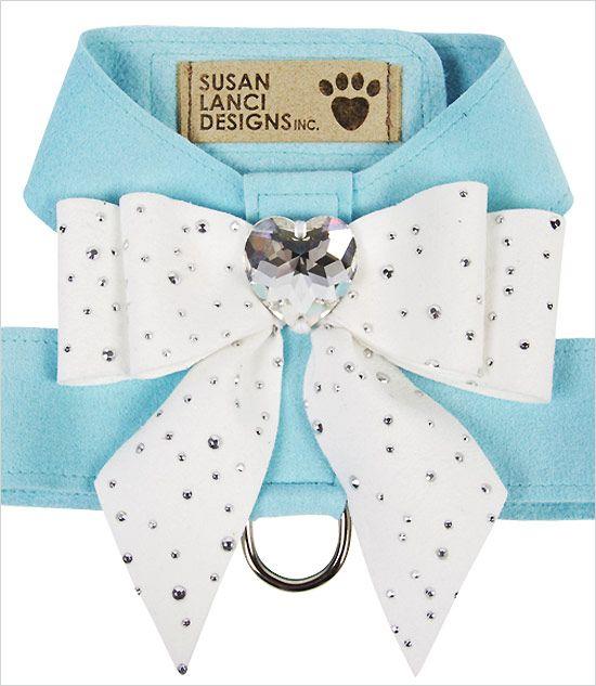 Tiffany color small dog harness