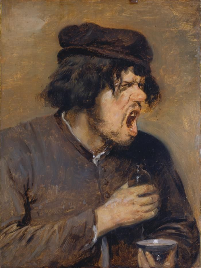 Adriaen Brouwer The Bitter Potion, ca. 1636–38 - Anecdotal genre scenes of robust content were especially popular in the Netherlands. The more prosperous city dwellers used them to decorate their well-ordered parlours.